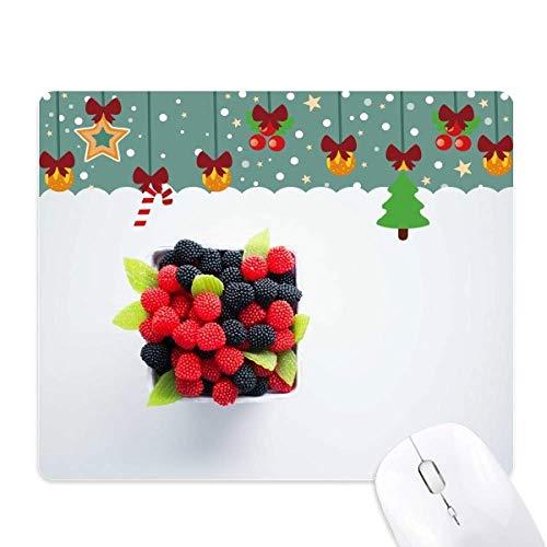 Temperate rode vruchten foto muismat spel Office Mat Kerstmis Rubber Pad