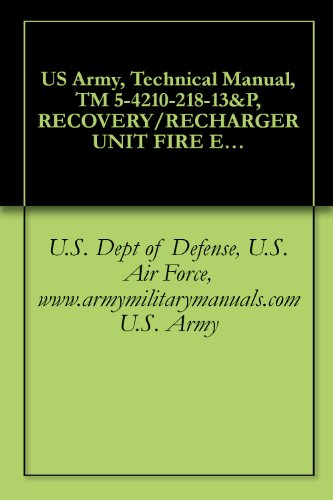 US Army, Technical Manual, TM 5-4210-218-13&P, RECOVERY/RECHARGER UNIT FIRE EXTINGUISHER, MONOBROMOTRIFLUOROMETHANE SKID MOUNTED, PNEUMATIC MOTOR DRIVEN ... (NSN 4210-01-430-5340), military manuals