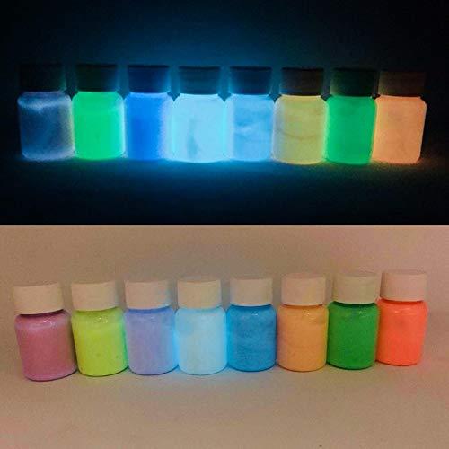 Polyment Profi Premium Leuchtfarbe - Sehr hell im Dunkeln nachleuchtende Farbe. Selbstleuchtendes UV Glühfarbe, Nachleuchtfarbe, selbstleuchtende Wandfarbe,Glow in the Dark Orange 50ml