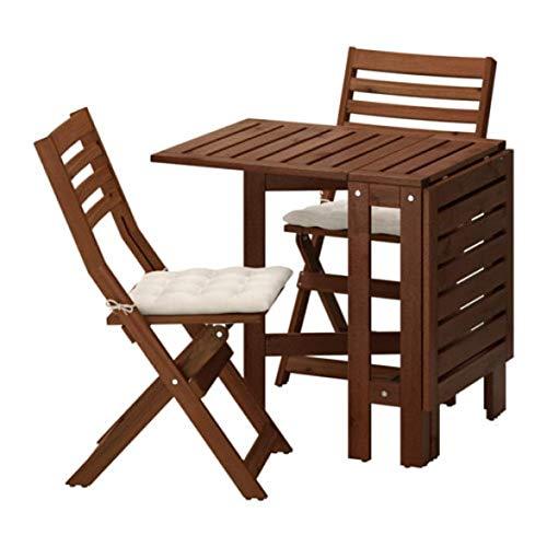 Ikea Applaro 091.565.01 - Mesa y 2 sillas Plegables, Color marrón