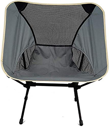 Portable Camping Chair Collapsible Fishing Chairs, Ideal for The Beach, Fishing, Camping, Hiking and Outdoor Festivals,Grey
