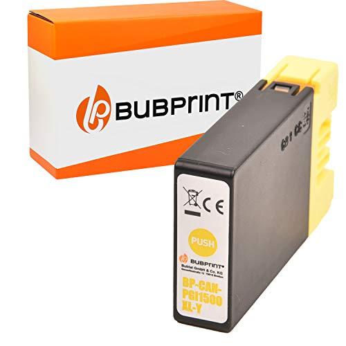 Bubprint Druckerpatrone kompatibel für Canon PGI-1500XL Y für Maxify MB2000 MB2050 MB2100 MB2150 MB2155 MB2300 MB2350 MB2700 MB2750 MB2755 Gelb