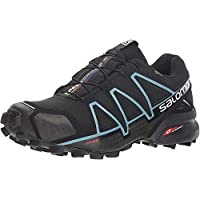 Salomon Speedcross 4 GTX W, Zapatillas de Trail Running para Mujer, Negro (Black/Black/Metallic Bubble Blue), 38 2/3 EU