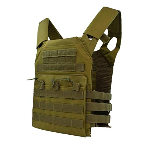 Homeilteds Caza Táctica Armadura del Cuerpo JPC Molle Plate Carrier Chaleco Exterior CS Juego Paintball Airsoft Chaleco Equipo Militar Waistcoat (Color : Green)