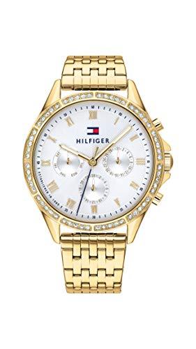 Tommy Hilfiger Damen Analoger Quarz Uhr mit Edelstahl Armband 1782142