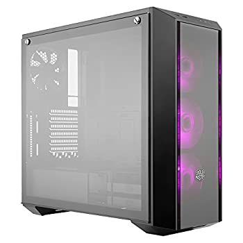 Cooler Master MasterBox Pro 5 RGB ATX Mid-Tower with Three 120mm RGB Fans Front DarkMirror Panel Tempered Glass RGB Splitter Cable & RGB Lighting System