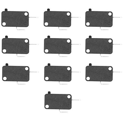 FRCOLOR Micro Limit Schalter 16A Momentary Scharnier Roller Lever Micro Schalter für Home Appliance Elektronische Ausrüstung 10Pcs