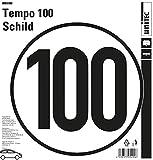 Unitec 10028 100 kmh Geschwindigkeitsschild Klebeschild Selbstklebender PVC Aufkleber für Anhänger,Wohnwagen,nach Din 1451