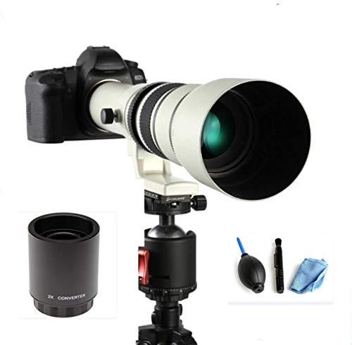 JINTU 500mm/1000mm f/8 Telephoto Lens Manual Camera Lens for Nikon D90 D80 D3500, D750, D800, D810, D850, D3100, D3200, D3300, D3400, D5100, D5200, D5300, D5500, D5600, D7000, D7100, D7200, D7500