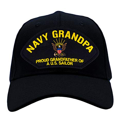 US Navy Grandpa – Proud Grandfather of a US Sailor Hat/Ballcap Adjustable One Size Fits Most