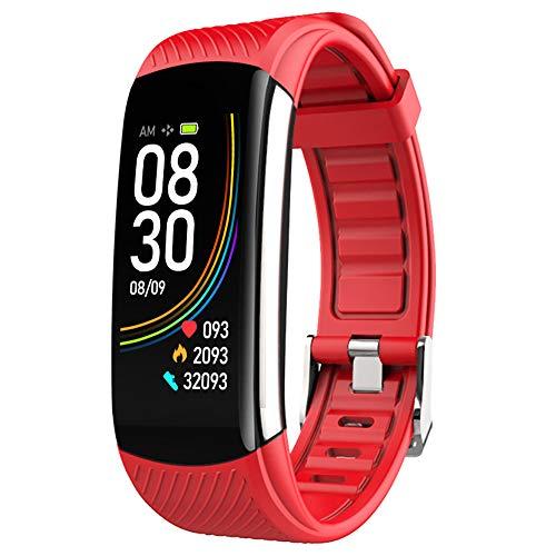 C6T Fitness Armband Thermometer, mit Temperaturüberwachung Pulsmesser Wasserdicht IP67 Fitness Tracker Aktivitätstracker Schrittzähler Uhr Herren- und Damensmartwatch Anruf Nachrichten beachten