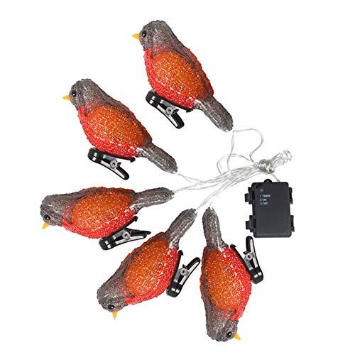 Impermeable 5 LED acrílico pájaro guirnalda luces cordón hogar jardín fiesta decoración vacaciones paisaje lámpara (A)