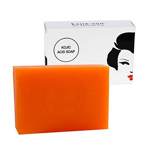 Kojie San Skin Lightening Kojic Acid Soap - 65g Fades age spots, freckles, and other signs of sun damage, heals acne blemishes and erases red marks an