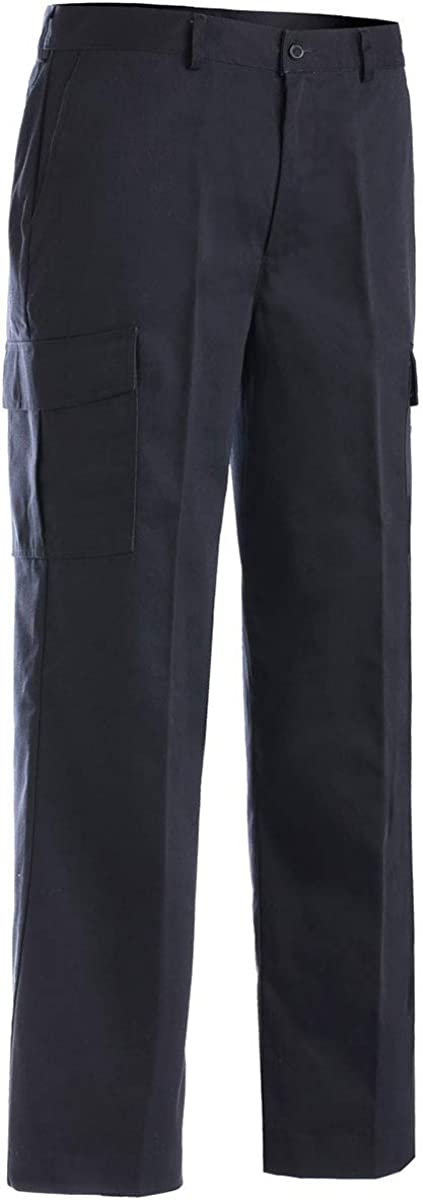 Edwards Garment Men's Casual Chino Moisture Wicking Cargo Pant, Navy, 32 26