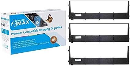 SuppliesMAX Compatible Replacement for Printek Formspro 4300/4503/4603 Black Printer Ribbons (3/PK) (90316_3PK)