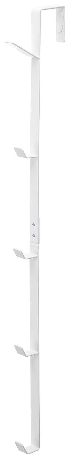 インフルエンザおしゃれな読書山崎実業(Yamazaki) ドアハンガー ロング ホワイト 約W1.5×D9×H54cm スマート 7645