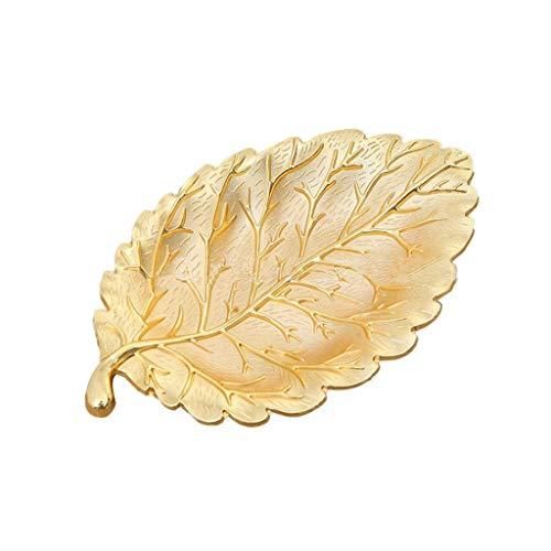 WYBFZTT-188 Bandeja de Oro en Forma de Hoja, Aspecto Exquisito, de Moda y de Lujo, se Puede Utilizar como decoración