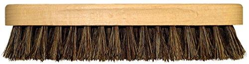DELARA Zwei große Glanzbürsten aus Holz mit Griffkehlen; weiche, hochwertige Rosshaar-Borsten, Farben braun und schwarz