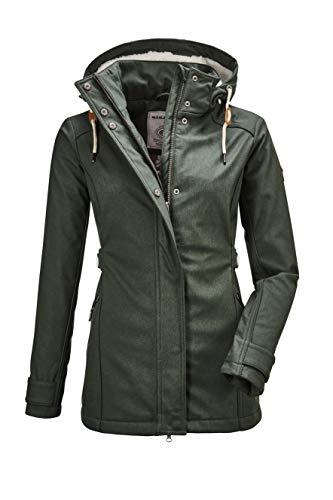 G.I.G.A. DX Damen Cushy WMN Jckt A Casual Softshell Jacke Mit Abzippbarer Kapuze, Bottlegreen, 42