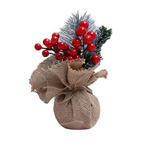 Preisvergleich Produktbild LDCP Mini Weihnachtsbaum Schlafzimmer Schreibtisch Ornament Dekoration Desktop Spielzeug Puppe Hause Kinder 20 cm Weihnachten 2 STÜCKE,  E