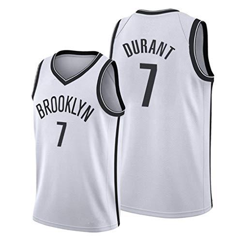 Miyapy NBA Brooklyn Nets #7 Kevin Durant Camiseta de Jugador de Baloncesto para Hombres, Camiseta con Bordado, Camiseta de los fanáticos, Chaleco Transpirable Deportivas de Jersey Swingman
