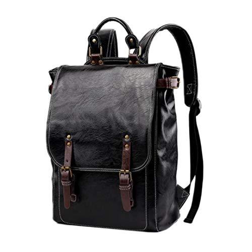 UKKD Backpack Mens 35L Patent Leather Backpack Fashion Men Travel Backpack Casual Laptop Backpack School Bag Teenager Boys Men School Backpack