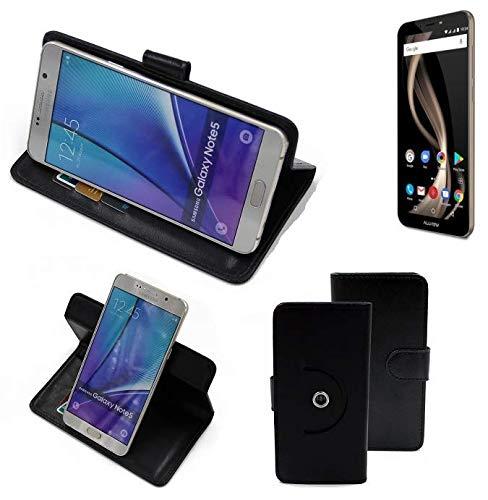 K-S-Trade® Handy Hülle Für Allview X4 Soul Infinity Z Flipcase Smartphone Cover Handy Schutz Bookstyle Schwarz (1x)