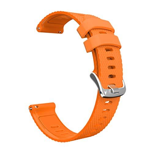 rongweiwang Rautenmuster Silikon-Uhrenarmband-Armband-Silikon-Sportuhr Bandwechsel für // Samsung 20mm beobachten, orange