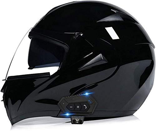 WWJ motorfiets Bluetooth Helm modulaire volledige gezicht waterdichte motorhelmen, Dot goedgekeurde Winter Bluetooth modulaire Motorcross helmen voor mannen vrouwen (55-62cm)