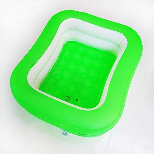 Pasgeboren plastic opblaasbare badkuip 2 niveau pure kleur opblaasbare bodem zwembad opblaasbaar zwembad in overdekte badkamer