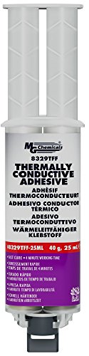 MG Chemicals 8329TFF Thermally Conductive Adhesive - Fast Cure Epoxy, 25 mL Dual Dispenser