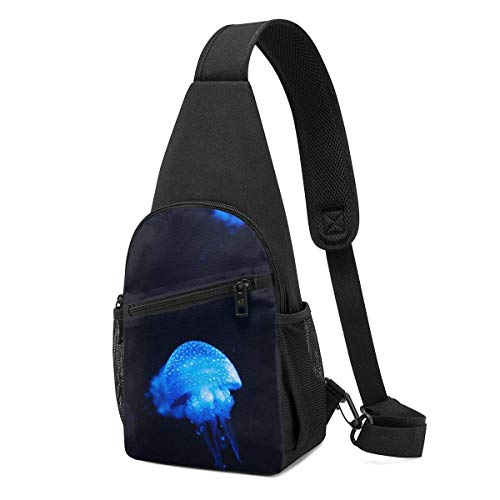 Hdadwy Mochila de hombro de medusa azul Sling Chest Bag Crossbody Bag Cover Pack Mochila