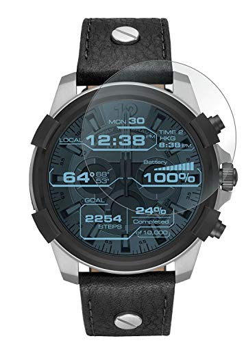 ACUTAS® Tempered Glass for Diesel On Grey (Transparent) Full Screen Coverage (Except Edges) with easy installation kit (Watch Not Included)