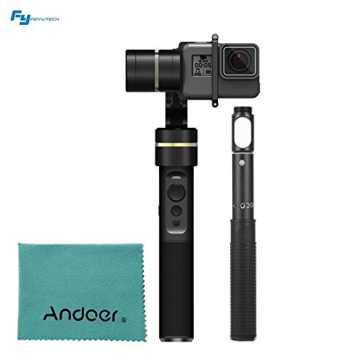 Feiyu G5 3-Axis Handheld Gimbal Action Camera Stabilizer Splash-Proof Design for GoPro HERO5 HERO4 HERO3 for Yi Cam 4K for AEE and Action Cameras of Similar Size