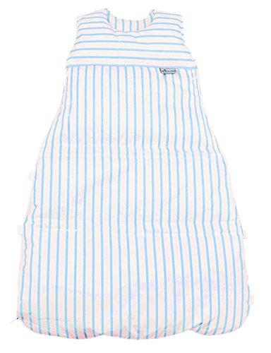 Climarelle Daunenschlafsack, längenverstellbar, Alterskl. ca 3-20 Monate, Streifen weiß - bleu, 80 cm