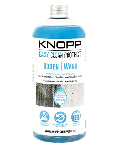 Knopp Boden|Wand, Breitbandreiniger (Bakterien, Flechten, Algen) + Versiegelung, 2-4 Jahre wirksam, gebrauchsfertig, 1l