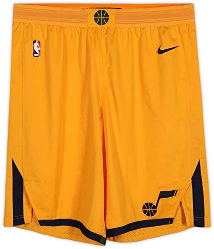 Ekpe Udoh Utah Jazz Game-Used #33 Yellow Shorts from the 2017-18 NBA Season - Size 44+2 - Game Used NBA Shorts