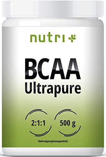 BCAA PULVER 2:1:1 500g Neutral - HÖCHSTDOSIERTE BCAAS - Ultrapure Natural Flavour - 100% essentielle Aminosäuren - vegan powder unflavoured - ohne Süßstoff und Zusatzstoffe