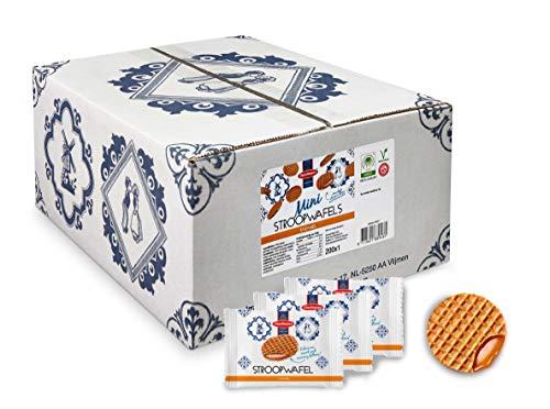 Stroopwafel Kekse Daelmans - 200 Mini Stroopwafels - 200 x 1 Stück (200 x 8g) - 1 Dose