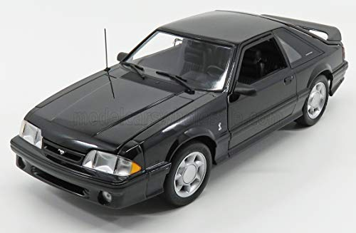 GMP 18921 1993 Ford Mustang Cobra Black w/Black Interior Diecast Car 1:18