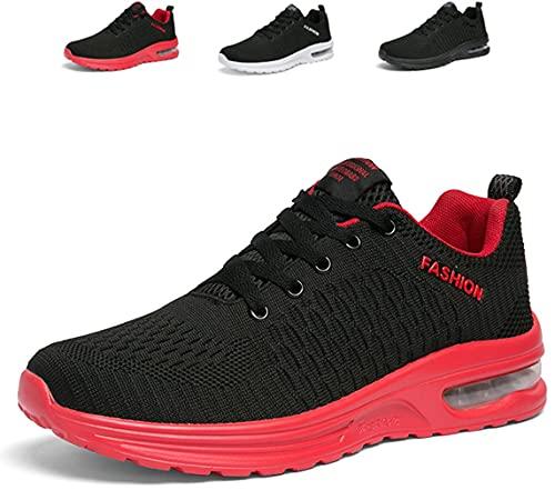 [ziitop] ランニングシューズ メンズ スニーカー エアー スポーツシューズ エアクッション 運動靴 ウォーキング ジム トレーニング ジョギング シューズ 軽量 通気性 防滑 黒