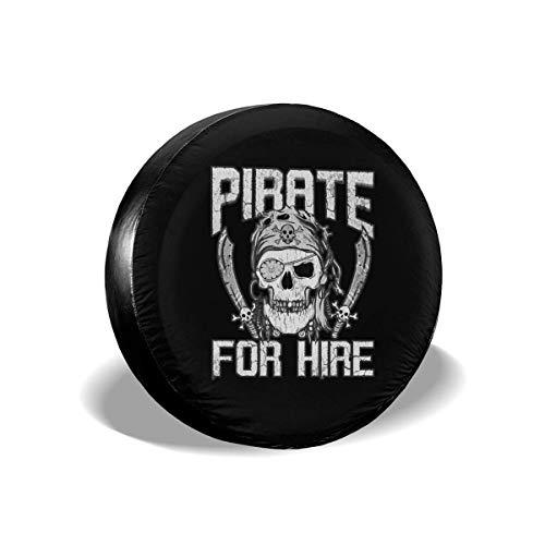 LYMT Pirat zu mieten Halloween Reifenabdeckung Universal Reserverad Reifenabdeckung Radabdeckungen für Anhänger RV SUV Truck Travel Trailer 15-17inch