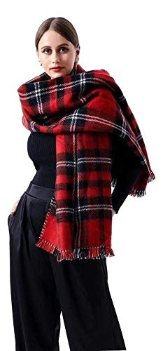 nobrands Sciarpa Donna Invernale Grande Alta qualita' Sciarpa Vestibilità Adatta a Tutti Abbigliamento per Moda (WJ2510)