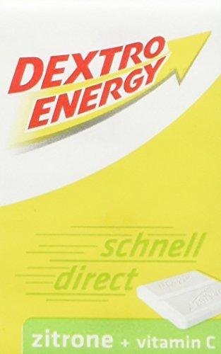 Dextro Energy Würfel Zitrone / Je 8 Dextrose-Täfelchen mit schnell verfügbarem Traubenzucker und zusätzlichem Vitamin C / 1 Packung (1 x 46g)