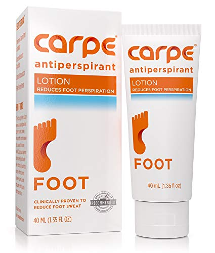 Carpe Antiperspirant Foot Lotion, A Dermatologist-Recommended Solution to Stop Sweaty, Smelly...