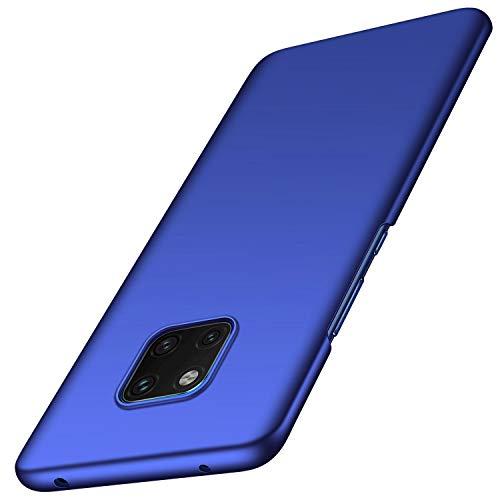 kqimi Hülle für Huawei Mate 20 Pro Superdünne Leichte Matte Handyhülle Einfache Stoßfeste Kratzfeste Ganzkörper Hülle kompatibel mit Huawei Mate 20 Pro(2018) 6.39'Blau