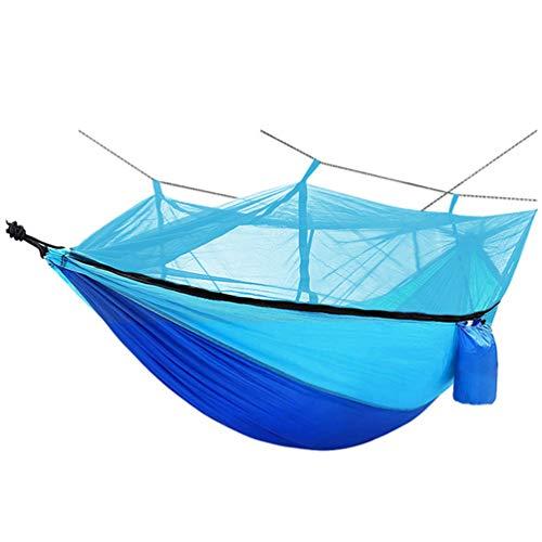 PRETYZOOM Hamaca para Acampar Doble Hawaii Portátil Ligera Hamaca Protectora Fiesta de Vacaciones de Verano Hamaca para Acampar Al Aire Libre con Red Práctica Hamaca de Tela de Nailon