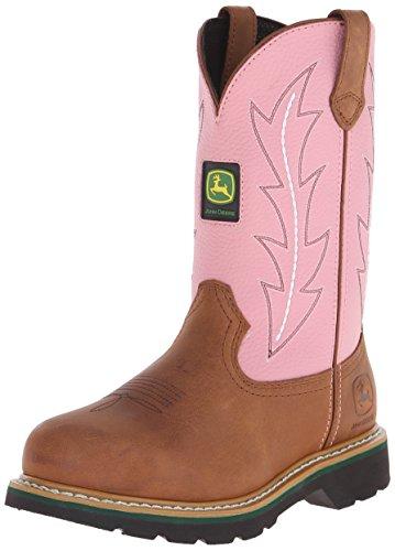 John Deere - Botas cowboy/Botas de agua mujer , color Rosa, talla 39,5 EU M
