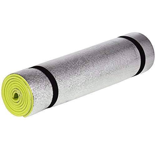 TRIXES große Isomatte für Erwachsene 180cm Camping Schaum Schlafmatte für Zeltboden und Festivals praktisch rollbar