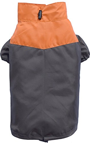 Doggy Dolly DR020 Raincoat for Dogs Four Paws, Orange/Brown, Size: L